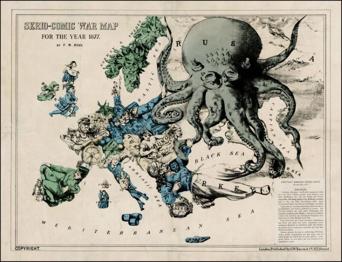 Английская карикатура 1877 г.