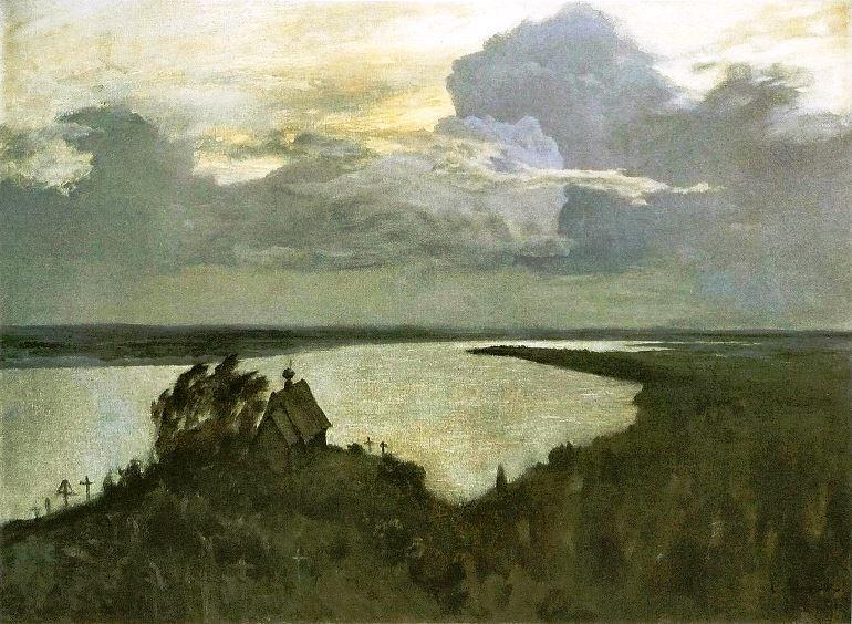 И. Левитан. Над вечным поем, эскиз, 1892 г.