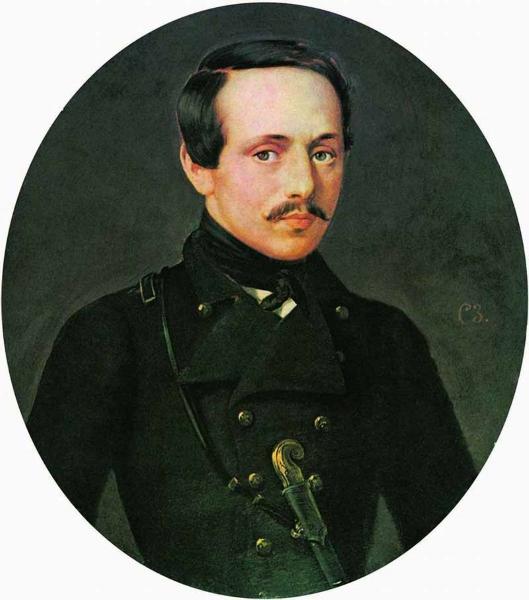 С. К. Зарянко. Портрет поэта М. Ю. Лермонтова, не ранее 1842 г.