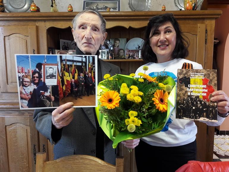 Иван Башкатов и президент бельгийской некоммерческой ассоциации «Меридиан» Элла Бондарева, написавшая книгу о советских партизанах в Бельгии