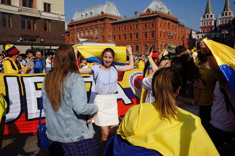 Москва в дни мирового первенства. Фото: photo-drive.ru