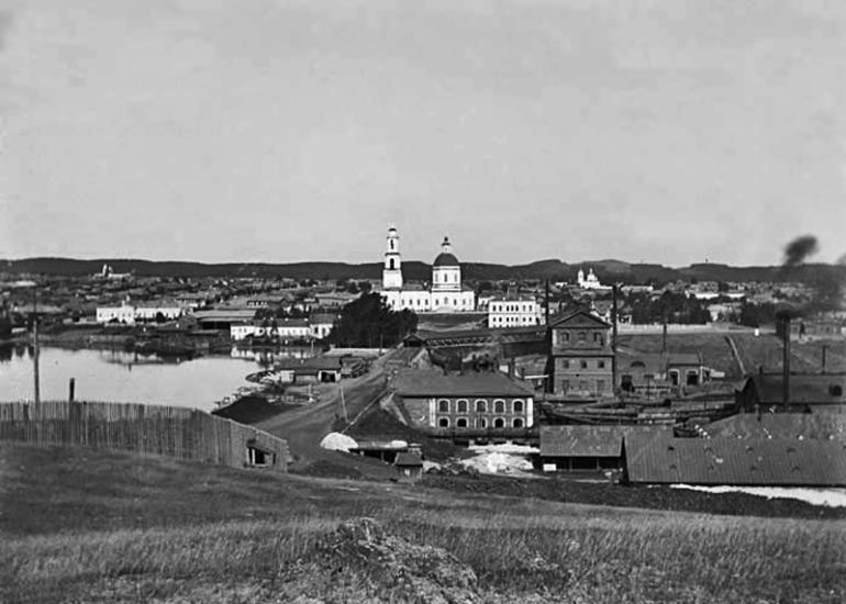 Сысертский завод. Старинная фотография