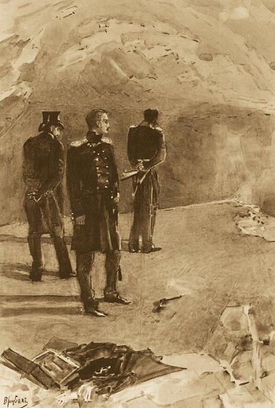 Дуэль Печорина с Грушницким. Иллюстрация М. Врубеля, 1890–1891 гг.