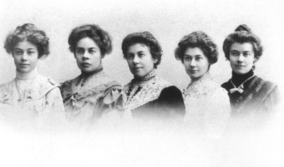 Sisters Gnessin (left to right): Olga, Elena, Eugenia, Maria and Elizaveta