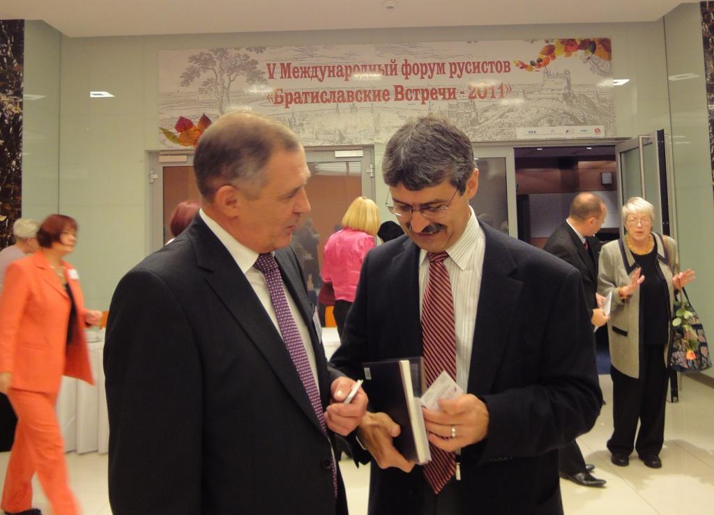 2011 г. Беседа с мэром Братиславы Миланом Втачником. Фото: Татьяна Бушуева