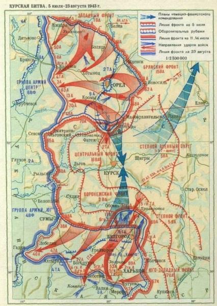 Seven Facts Concerning The Battle Of Kursk - Kursk map